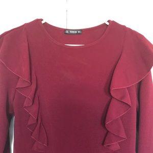 Shein burgundy dress